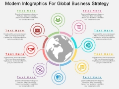 Modern Infographics For Global Business Strategy Powerpoint Template
