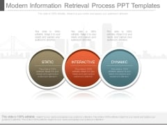 Modern Information Retrieval Process Ppt Templates