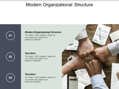 Modern Organizational Structure Ppt PowerPoint Presentation Slides Cpb