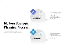 Modern Strategic Planning Process Ppt PowerPoint Presentation Infographics Icon