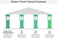 Modern Trends Training Employees Ppt PowerPoint Presentation Model Shapes Cpb