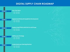 Modifying Supply Chain Digitally Digital Supply Chain Roadmap Ppt PowerPoint Presentation Styles Graphics PDF