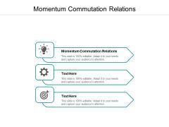 Momentum Commutation Relations Ppt PowerPoint Presentation Slides Inspiration Cpb