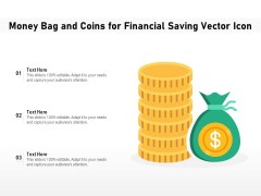 Money Bag And Coins For Financial Saving Vector Icon Ppt PowerPoint Presentation Icon Infographics PDF
