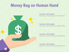 Money Bag On Human Hand Ppt PowerPoint Presentation Layouts Clipart