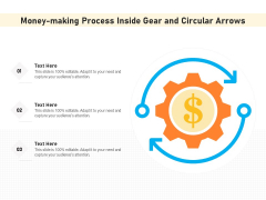 Money Making Process Inside Gear And Circular Arrows Ppt PowerPoint Presentation File Formats PDF