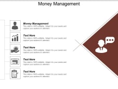 Money Management Ppt PowerPoint Presentation Visual Aids Background Images Cpb