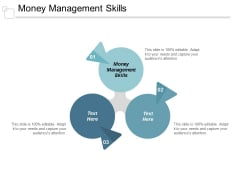 Money Management Skills Ppt Powerpoint Presentation Gallery Themes Cpb