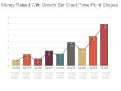 Money Raised With Growth Bar Chart Powerpoint Shapes