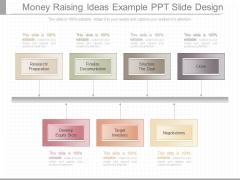 Money Raising Ideas Example Ppt Slide Design