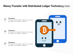 Money Transfer With Distributed Ledger Technology Icon Ppt PowerPoint Presentation File Format PDF