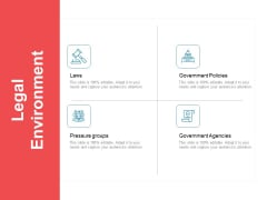 Moneymaking Circumstance Legal Environment Ppt Slides Pictures PDF
