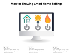 Monitor Showing Smart Home Settings Ppt PowerPoint Presentation Summary Backgrounds PDF