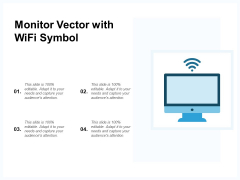Monitor Vector With Wifi Symbol Ppt PowerPoint Presentation Infographic Template Diagrams