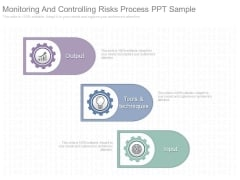 Monitoring And Controlling Risks Process Ppt Sample