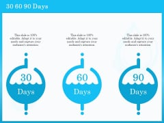 Monitoring And Evaluating Water Quality 30 60 90 Days Ppt PowerPoint Presentation Styles Slides PDF