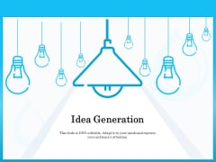 Monitoring And Evaluating Water Quality Idea Generation Ppt Infographic Template Background Images PDF
