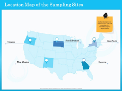 Monitoring And Evaluating Water Quality Location Map Of The Sampling Sites Ppt Icon Design Templates PDF