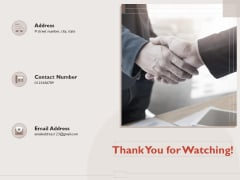 Monitoring Computer Software Application Thank You For Watching Ppt PowerPoint Presentation Layouts Slides PDF