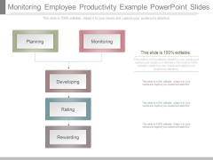 Monitoring Employee Productivity Example Powerpoint Slides