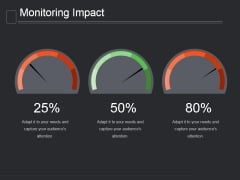 Monitoring Impact Ppt PowerPoint Presentation Background Image