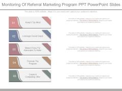 Monitoring Of Referral Marketing Program Ppt Powerpoint Slides