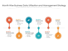 Month Wise Business Data Utilization And Management Strategy Ppt PowerPoint Presentation Layouts Portfolio PDF