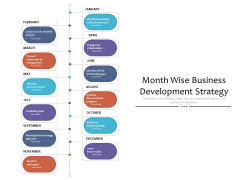 Month Wise Business Development Strategy Ppt PowerPoint Presentation Model Microsoft PDF