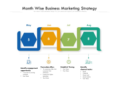 Month Wise Business Marketing Strategy Ppt PowerPoint Presentation Infographics Styles PDF