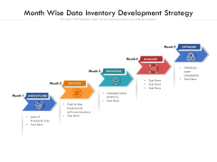 Month Wise Data Inventory Development Strategy Ppt PowerPoint Presentation File Gridlines PDF