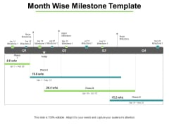 Month Wise Milestone Template Ppt PowerPoint Presentation Gallery Styles