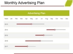 Monthly Advertising Plan Ppt PowerPoint Presentation Infographics Pictures