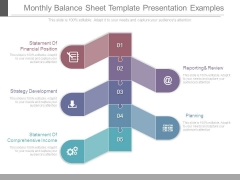 Monthly Balance Sheet Template Presentation Examples