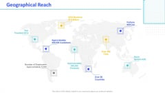 Monthly Digital Marketing Report Template Geographical Reach Slides PDF