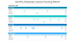 Monthly Employee Leaves Tracking Report Ppt PowerPoint Presentation Gallery Templates PDF