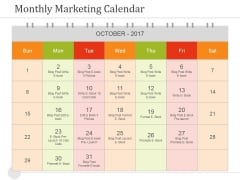 Monthly Marketing Calendar Ppt PowerPoint Presentation Background Image