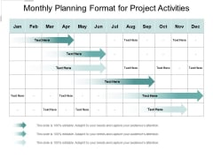 Monthly Planning Format For Project Activities Ppt PowerPoint Presentation Pictures Model