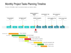 Monthly Project Tasks Planning Timeline Ppt PowerPoint Presentation Gallery Summary PDF