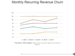 Monthly Recurring Revenue Churn Template 1 Ppt PowerPoint Presentation Clipart