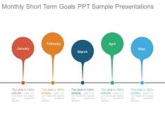 Monthly Short Term Goals Ppt Sample Presentations