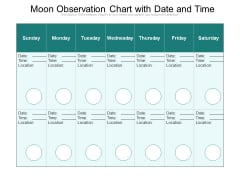 Moon Observation Chart With Date And Time Ppt PowerPoint Presentation Gallery Gridlines PDF