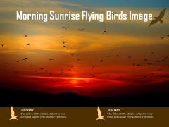Morning Sunrise Flying Birds Image Ppt PowerPoint Presentation File Slideshow PDF