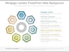 Mortgage Lenders Powerpoint Slide Background