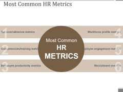 Most Common Hr Metrics Ppt PowerPoint Presentation Model Visual Aids