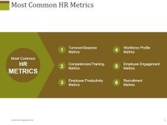 Most Common Hr Metrics Ppt PowerPoint Presentation Portfolio Gallery