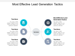 Most Effective Lead Generation Tactics Ppt PowerPoint Presentation Inspiration Examples Cpb
