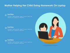 Mother Helping Her Child Doing Homework On Laptop Ppt PowerPoint Presentation Gallery Layout Ideas PDF