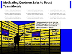 Motivating Quote On Sales To Boost Team Morale Ppt PowerPoint Presentation Infographics Gridlines PDF