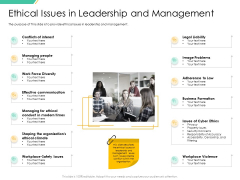 Motivation Theories And Leadership Ethical Issues In Leadership And Management Demonstration PDF
