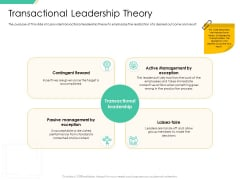Motivation Theories And Leadership Management Transactional Leadership Theory Themes PDF